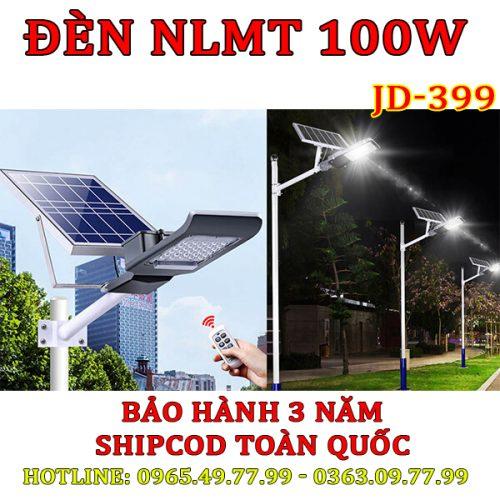 Đèn đường năng lượng mặt trời 100W JD-399