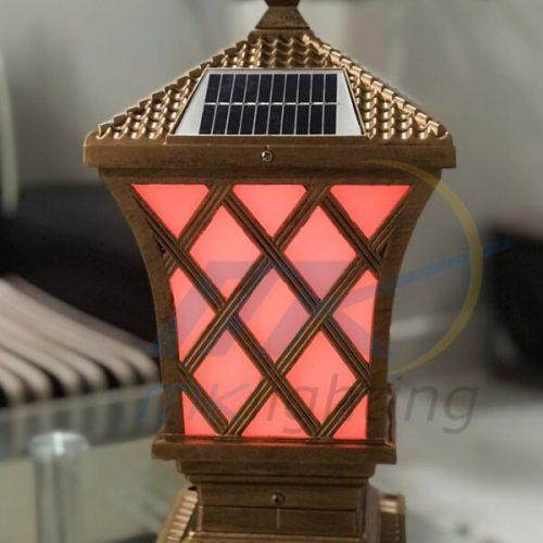 Đèn trụ cổng năng lượng mặt trời MK-2704 3W|Trang trí hiện đại